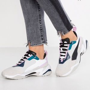 New PUMA Thunder Rive Droite Gray Sneakers Size:7